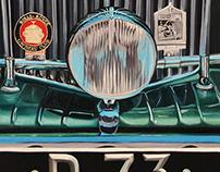 Bentley/ Rolls Royce oil Painting