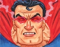 'Superman: The Legend' sketch cards