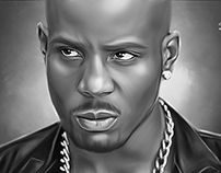 """DMX"" Digital Oil Painting by Wayne Flint"