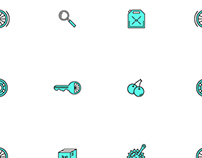 Bicycle Speed Shop Icons