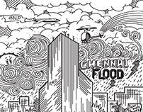 Chennai Flood 2015 | Illustration