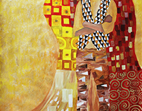 Klimt Style Self Portrait
