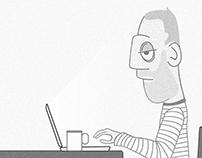 The office boy - Illustration