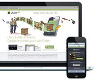 Art Direction, UI - Appsite for media mashup app