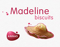 Madeline biscuits package design