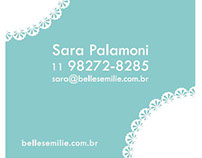 Belles Emilie's Squared Contact Card