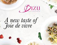 Social media banner for menu launch | Bizu Patiserrie