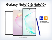 Free Samsung Galaxy Note10 & Note10+ PSD & Ai Files