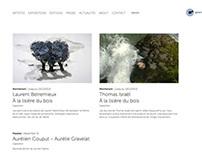 Galerie Charlot // responsive art gallery website
