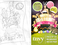 Spring Party Flyers for Envy Nightclub
