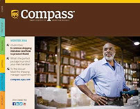 UPS Compass Web Site, Print and Digital Magazines