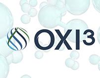 OXI3 Logotipo 3D y diseño de animación.