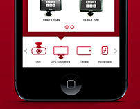 TENEX product catalog app for IPhone
