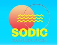 SODIC | social app concept