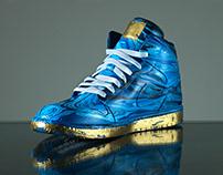 The Hazard   Acrylic Fusion Air Jordan 1 Mid Sneaker