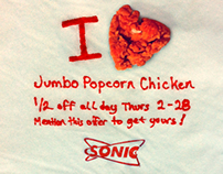SONIC Spicy Jumbo Popcorn Chicken social media campaign