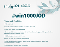 Ahli Bank Twitter Competition #Win1000JOD