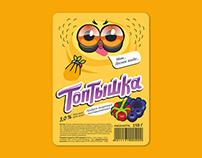 Yogurt label TOPTISHKA