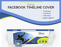 Curvy FB Timeline Cover Template