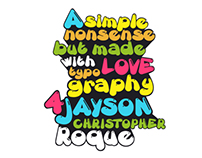 Just for Love Typography