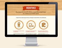 Rentiko landing page
