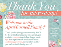 April Cornell: Thank You For Subscribing Eblast