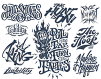 A collection of hand lettered designs from 2019