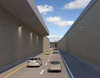 3D VISUALIZATION ANIMATION OHIO ODOT US-23 NORTH TRENCH