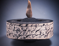 Cremation Urn by Eric Pilhofer, ceramic sculpture.