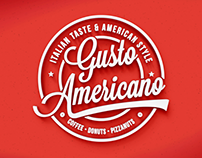 Gusto Americano // American Style Coffee Branding