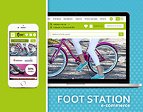 "Design for e-commerce Shoes Web Site ""Foot Station"""