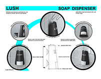 Lush Cosmetics Wall Mounted Soap Dispenser