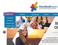 Oil&Gas Career Website Layout Design