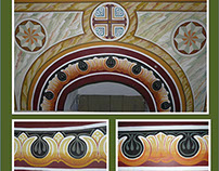 MURALS: FRIEZE-ORNAMENTS - Etropolski Monastery, BG