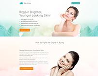Anti Aging Cream Website Mockup