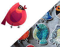 BIRDIES brooches