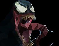 Low Poly Art: Marvel's Venom