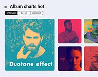 Interface online music website