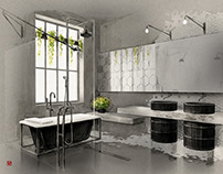 Industrial bathroom concept