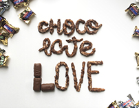 Typography Project with Chocolate