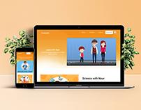 Creatokids app landing page
