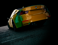 BMW M4 F32 -3D Render