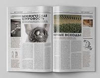 Принципиальный дизайн деловой газеты Hit Invest