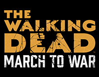 The Walking Dead: March to War Logo Design