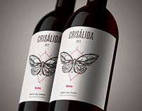 Crisálida: Naming and design of the wine-label.