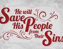 Christmas Postcard Design for church