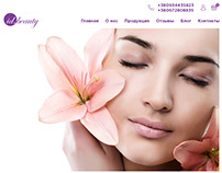 Landing page for Academy of cosmetology