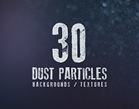 30 Dust Particles Backgrounds / Textures