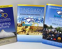 Israel at 70 Logo and Print Materials
