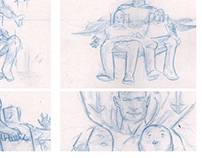 Super hero storyboards